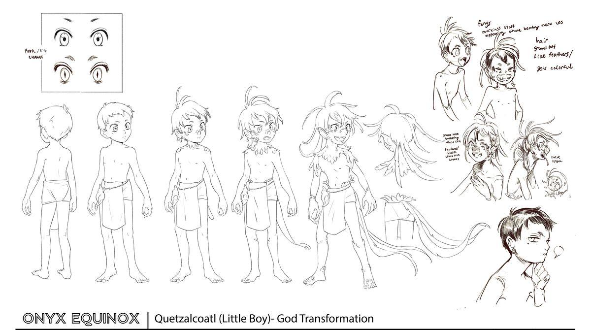 Quetzalcoatl design concept art for Onyx Equinox