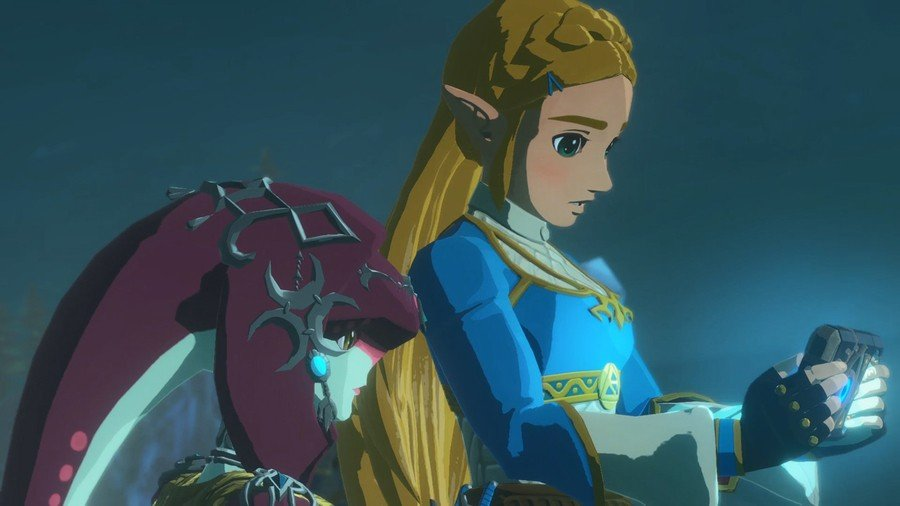 'I can't believe this game has an update already,' Zelda said, looking deeply into her customised Switch console'