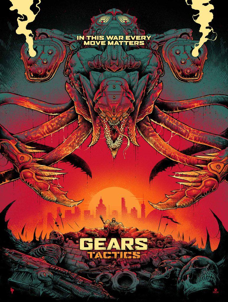 Gears Tactics Reaver Poster designed by Luke Preece