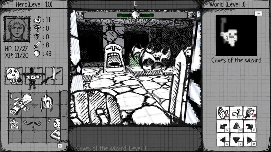 Drawngeon: Dungeons of Ink and Paper – November 13 – Xbox Play Anywhere