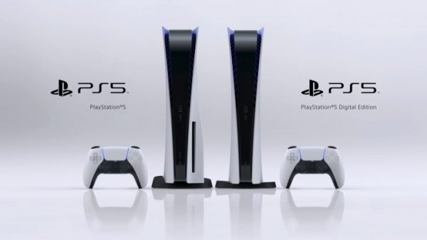Both the PS5 and PS5 Digital Edition next to each other