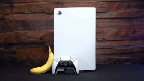 PS5, with banana for scale