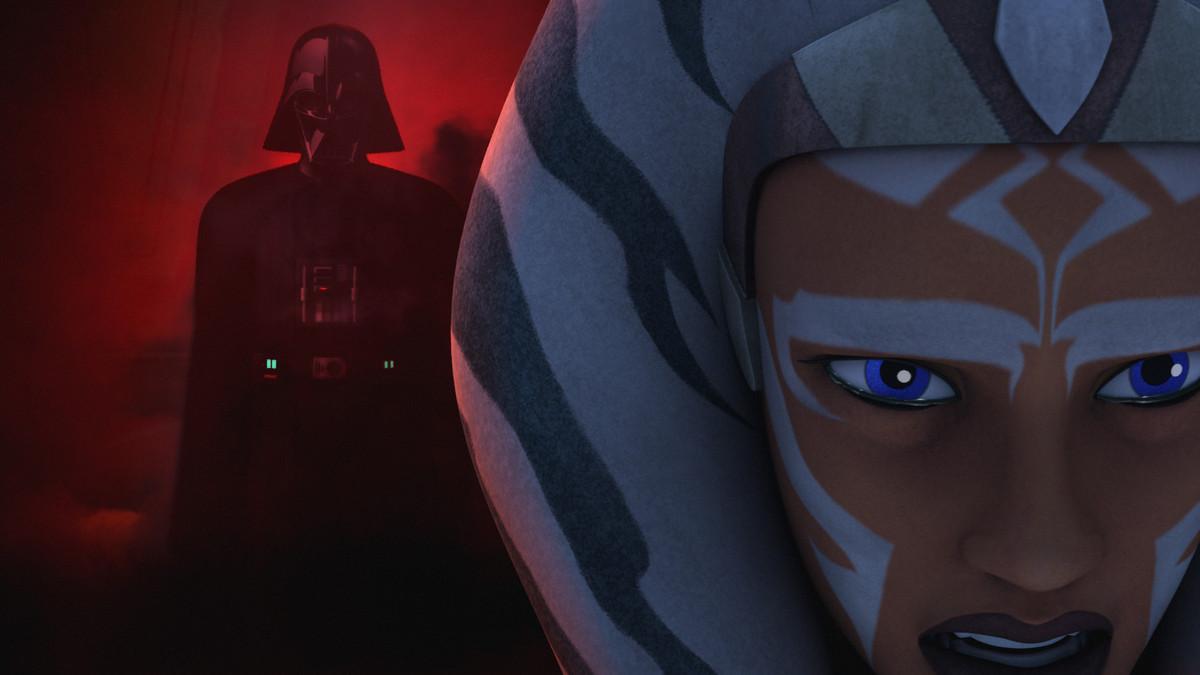 Ahsoka and Darth Vader
