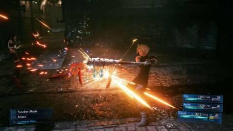 Final Fantasy 7 remake in-game screenshot PS4