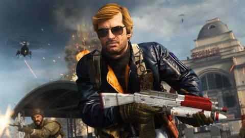 Adler holding the Blast Radius Bullfrog skin in Call of Duty: Black Ops Cold War