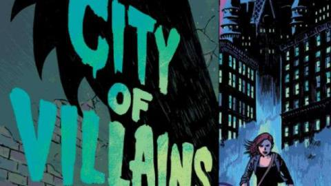 the cover for city of villains, featuring the shadow of maleficent and some spooky tentacles