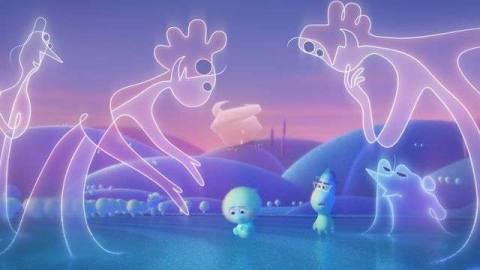 a bunch of floaty shaped souls from soul