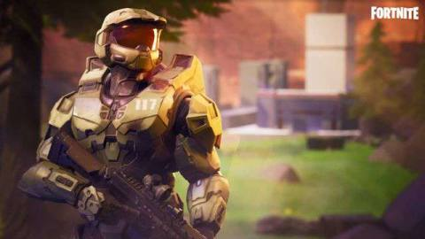 Master Chief in Fortnite.