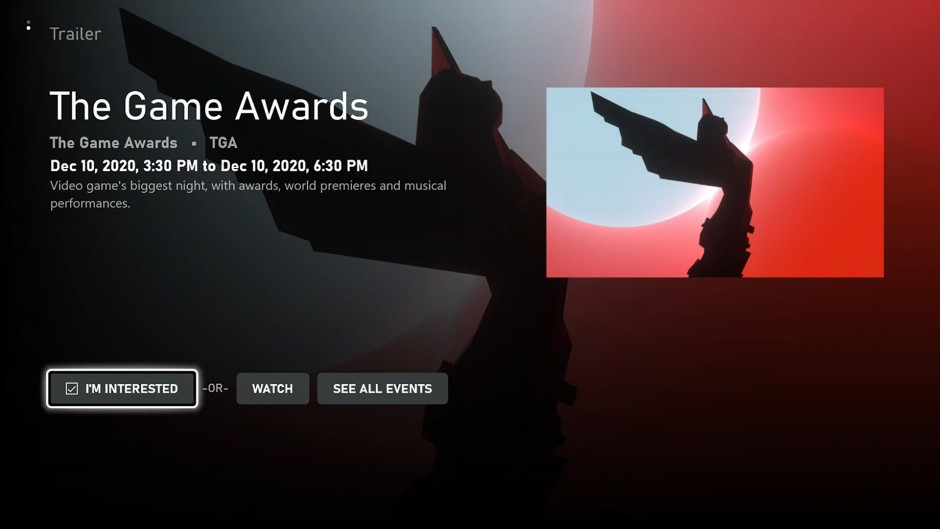 The Game Awards Events Page Hero