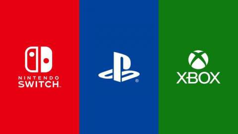 Logos for Nintendo Switch, PlayStation, and Xbox