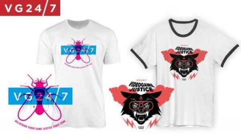 VG247 t-shirt merch designs.