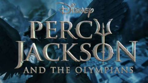 a title card for percy jackson