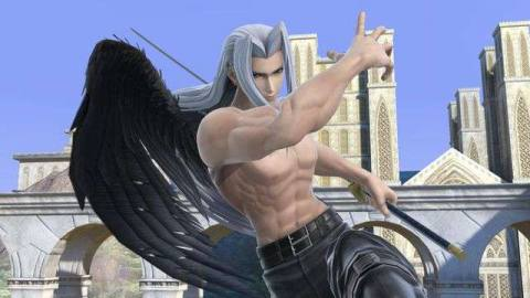Shirtless Sephiroth in Super Smash Bros. Ultimate