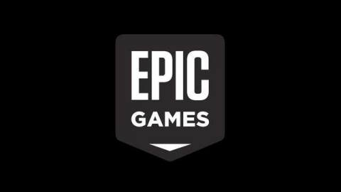 The Epic Games logo on a black background