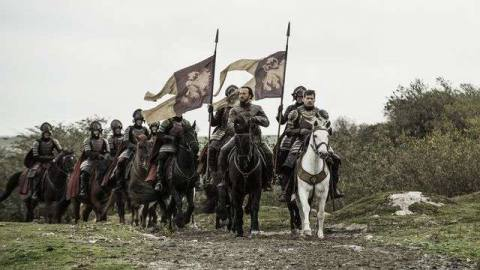 Game of thrones 610 - Jaime and Bronn on horseback