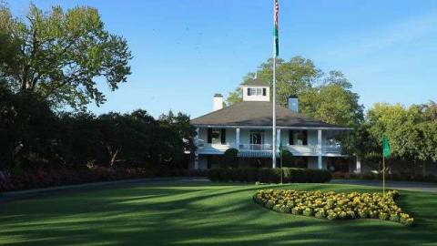 Founders Circle and the clubhouse at Augusta National Golf Club