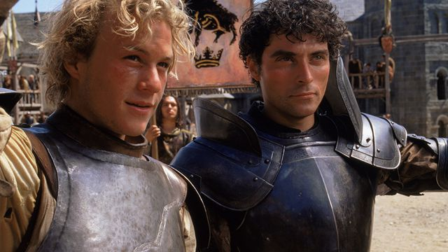 Heath Ledger and Rufus Sewell in A Knight's Tale