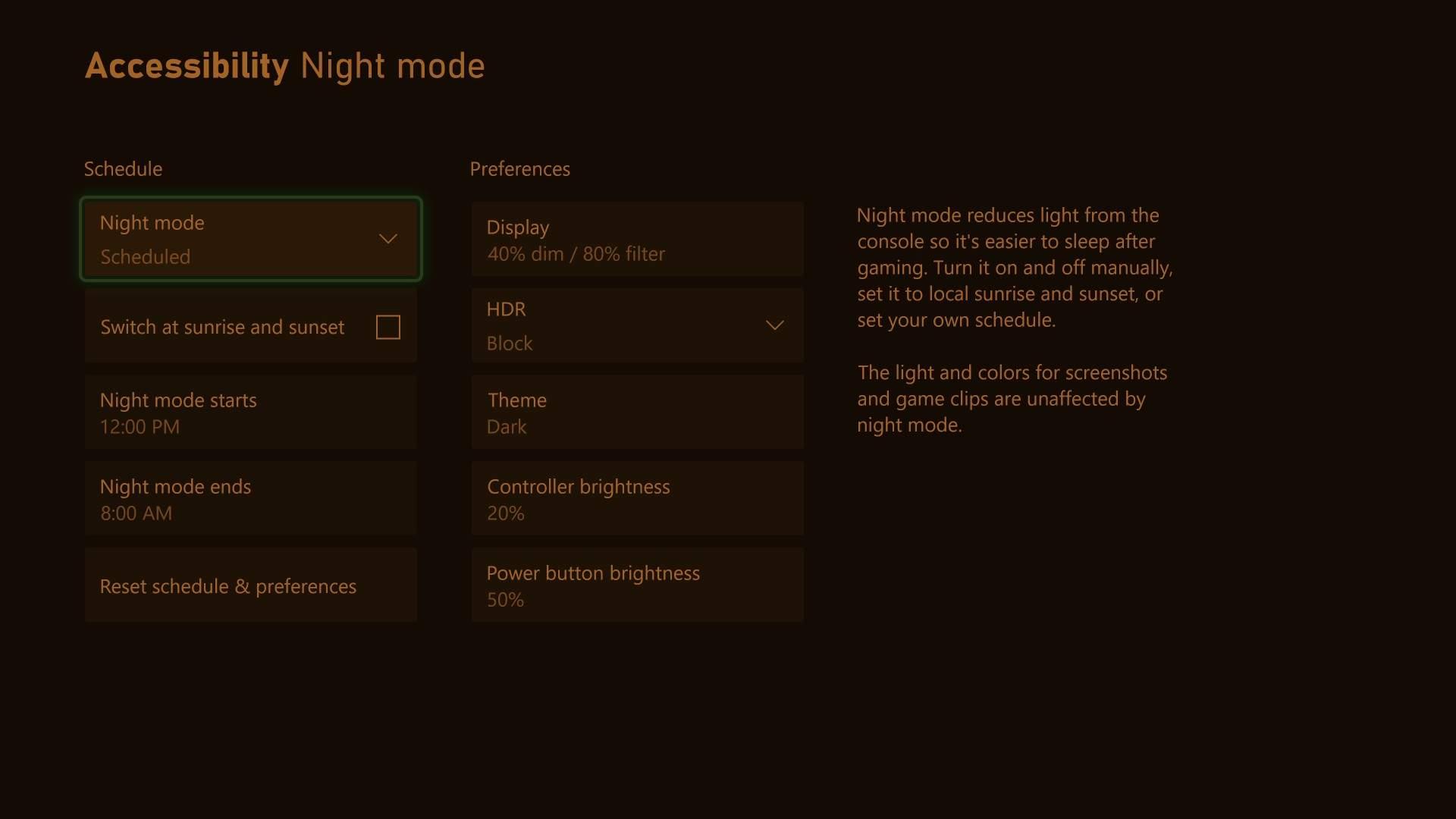Night Mode Display